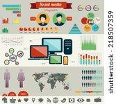 social network infographics set....   Shutterstock .eps vector #218507359