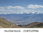 view of majestic himalayan... | Shutterstock . vector #218510986