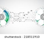 abstract technological... | Shutterstock .eps vector #218511910