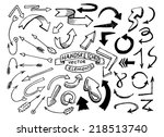 hand drawn vector arrows | Shutterstock .eps vector #218513740