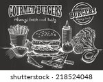 hand drawn of burger and... | Shutterstock .eps vector #218524048