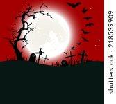 halloween background  ... | Shutterstock . vector #218539909