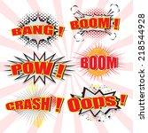 set of comic speech bubble... | Shutterstock .eps vector #218544928