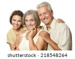 cute family portrait   adult... | Shutterstock . vector #218548264