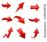red arrow icon set. vector | Shutterstock .eps vector #218549578