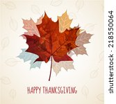 thanksgiving greeting card ... | Shutterstock .eps vector #218550064
