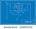 image of a corner kick on... | Shutterstock .eps vector #218551516