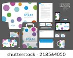 colored dot style corporate... | Shutterstock .eps vector #218564050