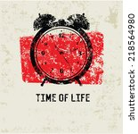 time of life grunge symbol... | Shutterstock .eps vector #218564980