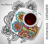 vector coffee concept   a cup...   Shutterstock .eps vector #218566834