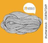 hand drawn noodle. doodle... | Shutterstock .eps vector #218567269