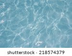 blue water surface background... | Shutterstock . vector #218574379