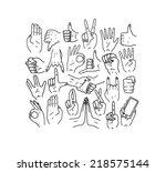 hands.gestures. hand drawn...   Shutterstock .eps vector #218575144