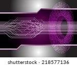 light abstract technology... | Shutterstock .eps vector #218577136