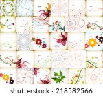 mega collection of autumn... | Shutterstock .eps vector #218582566