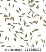 cumin seeds seamless pattern