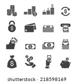 money icon | Shutterstock .eps vector #218598169