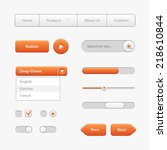 orange light user interface...