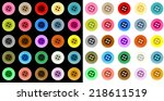 colored button | Shutterstock .eps vector #218611519