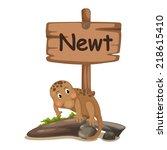 animal alphabet letter n for...   Shutterstock .eps vector #218615410