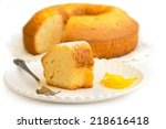 close up of a slice of cake | Shutterstock . vector #218616418