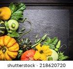 Decoration Of Colored Pumpkins...