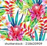 Seamless Jungle Tropic Pattern...