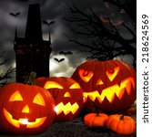Halloween Jack O Lanterns With...