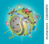 vector illustration of... | Shutterstock .eps vector #218630854