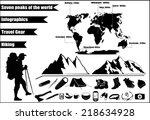mountains hiking infographics...