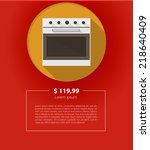 vector ad layout for kitchen...   Shutterstock .eps vector #218640409