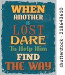 retro vintage motivational... | Shutterstock . vector #218643610