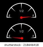 fuel gauge   empty and full... | Shutterstock . vector #218646418