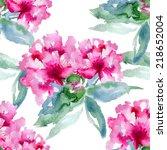 floral pattern. vector seamless ... | Shutterstock .eps vector #218652004