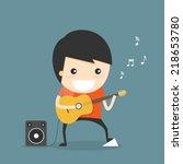 play guitar    Shutterstock .eps vector #218653780