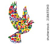 Peace Concept With Dove Made O...