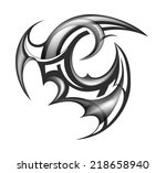 tribal tattoo design maori... | Shutterstock .eps vector #218658940