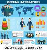 business meeting brainstorming...   Shutterstock .eps vector #218667139