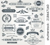 vintage design elements frames... | Shutterstock .eps vector #218667160