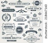 vintage design elements frames... | Shutterstock .eps vector #218667160