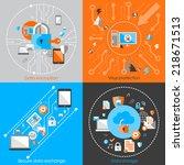 business data protection... | Shutterstock .eps vector #218671513