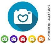 beautiful love photo camera web ... | Shutterstock .eps vector #218671648