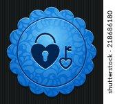 beautiful love heart lock web... | Shutterstock .eps vector #218686180