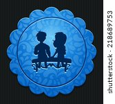 beautiful love couple web icon   Shutterstock .eps vector #218689753