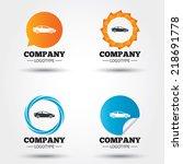 car sign icon. sedan saloon... | Shutterstock .eps vector #218691778