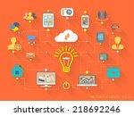 vector flat design style...   Shutterstock .eps vector #218692246
