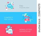 online support concept flat...   Shutterstock .eps vector #218694370
