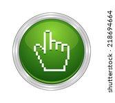beautiful cursor hand web icon   Shutterstock .eps vector #218694664