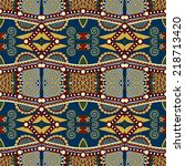 seamless geometry vintage... | Shutterstock .eps vector #218713420