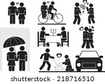 romance icon set | Shutterstock .eps vector #218716510